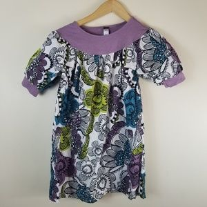 Tea Collection Girls Floral Bubble Sleeve Dress 10